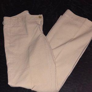 Banana Republic tan pin stripes pants. Size 8